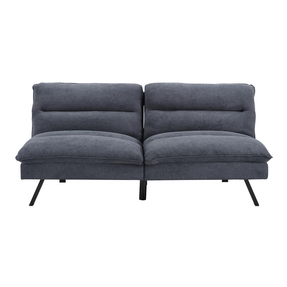 Simmons Manhattan Charcoal Convertible Sofa
