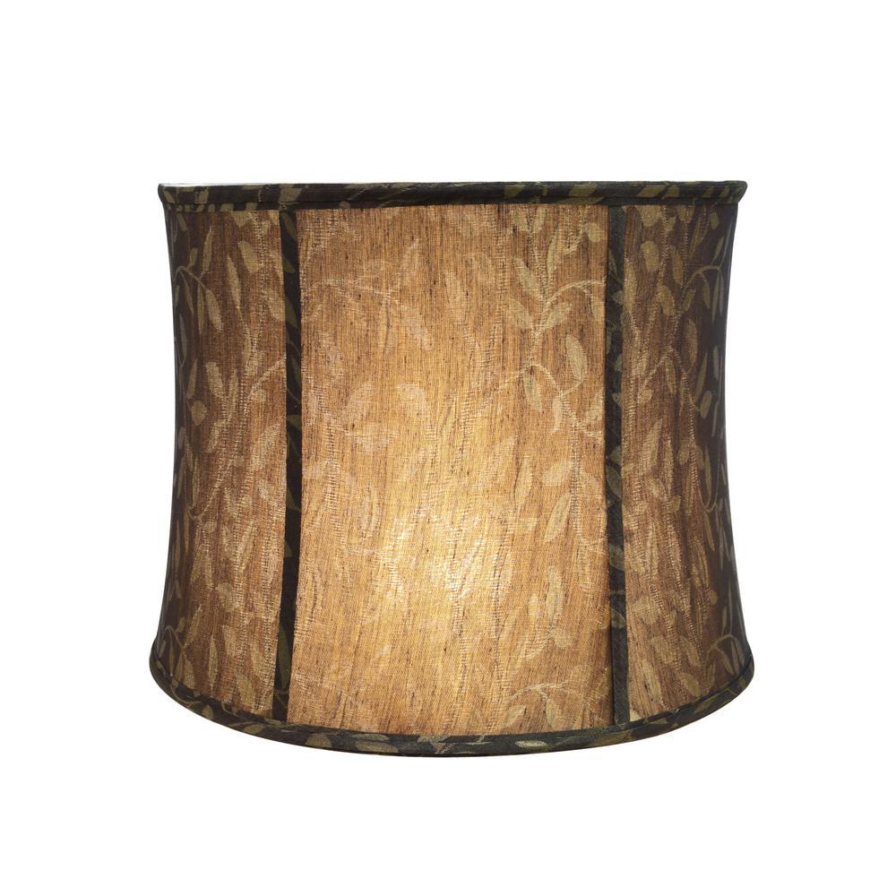 "Aspen Creative 30041 Bell Spider Lamp Shade Brown 13/""x14/""x11/"""