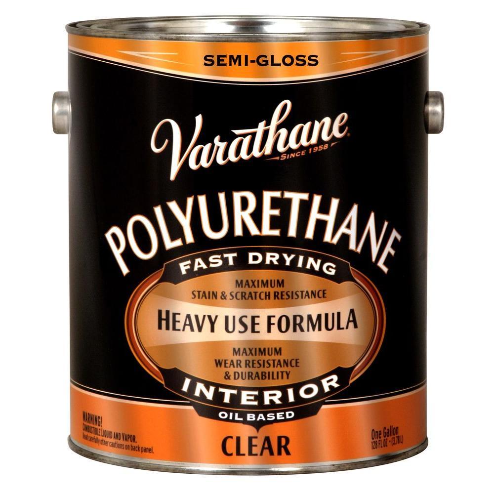 1 gal. Clear Semi-Gloss 275 VOC Oil-Based Interior Polyurethane (Case of 2)