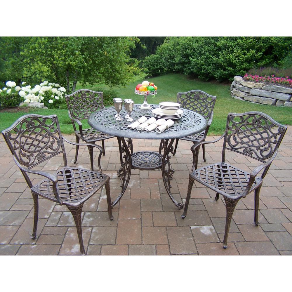 Mississippi 5-Piece Aluminum Outdoor Dining Set