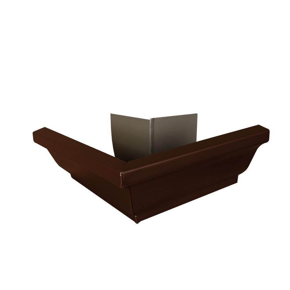 Amerimax Home Products 6 in. Royal Brown Aluminum Outside Gutter Mitre Box