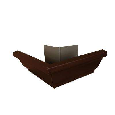 6 in. Royal Brown Aluminum Outside Gutter Mitre Box
