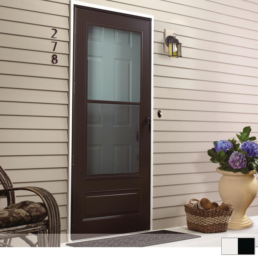 100 Series 3/4 View Self-Storing Storm Door