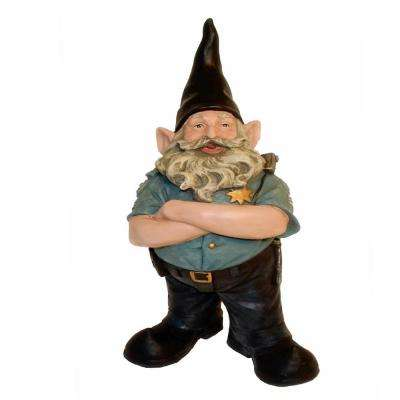 """13 in. H """"Policeman the Hero"""" Garden Gnome Police Of1ficer Cop Figurine Statue"""