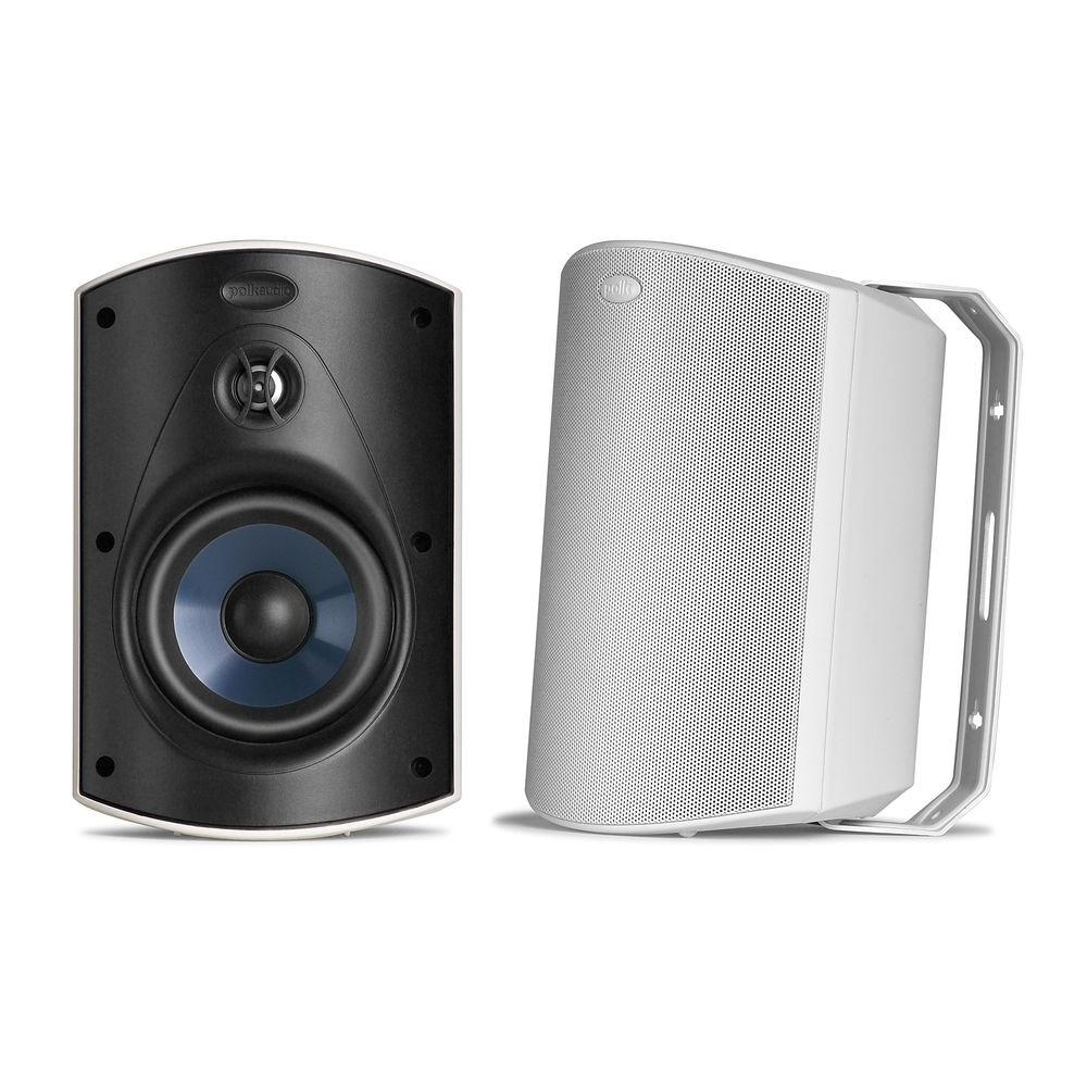 Polk Audio 100- Watt 2 Way Freestanding Atrium5 All-Weather Outdoor Loudspeaker(White) with 5 in. Subwoofer-DISCONTINUED