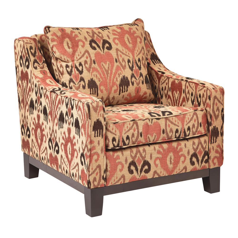 Ave Six Regent Arizona Rust Chair Rgt51 J6 The Home Depot