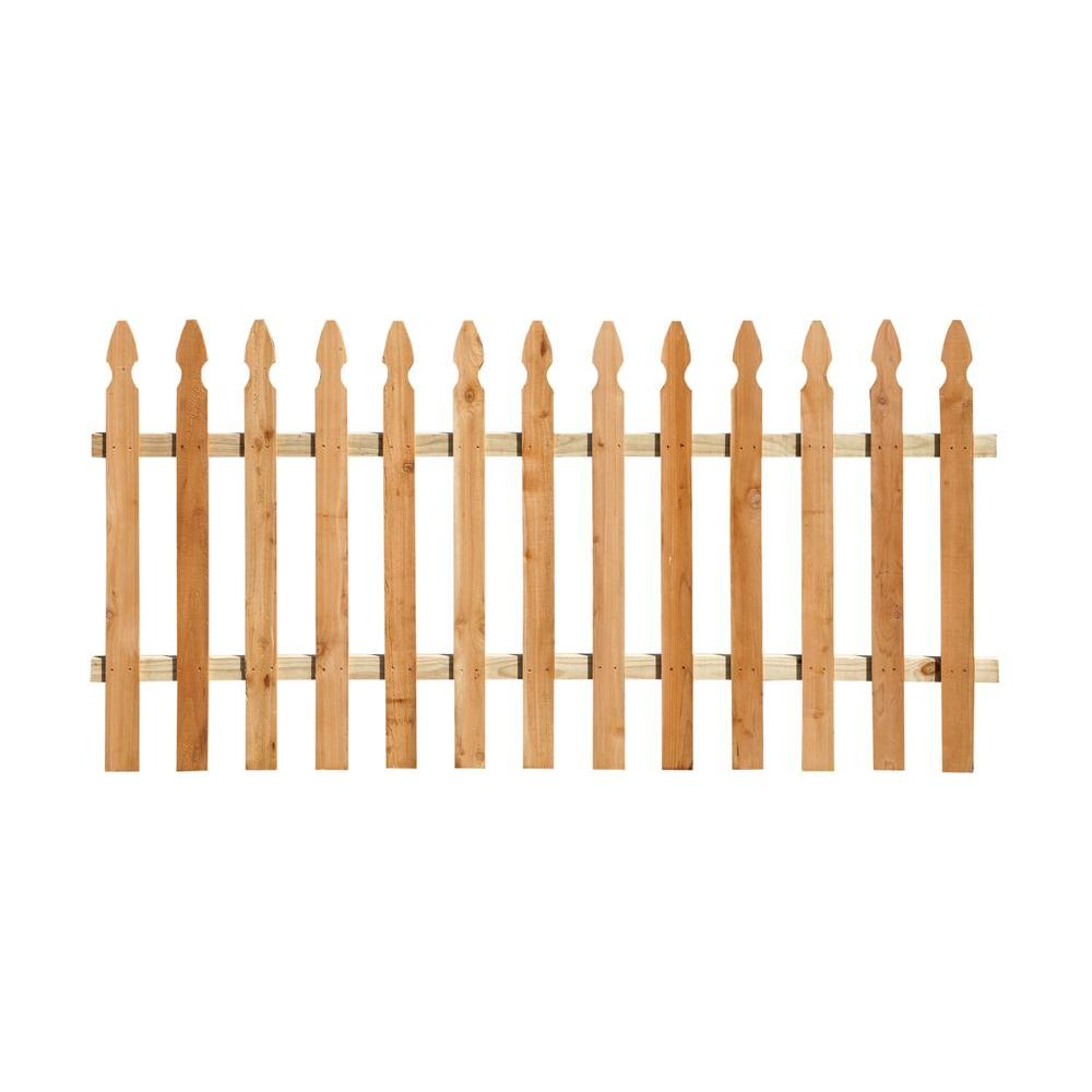 3-1/2 ft. x 6 ft. Western Red Cedar French Gothic Fence