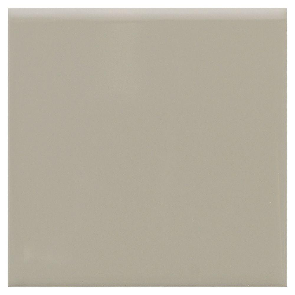 Matte Architectural Gray 4-1/4 in. x 4-1/4 in. Ceramic Bullnose Wall