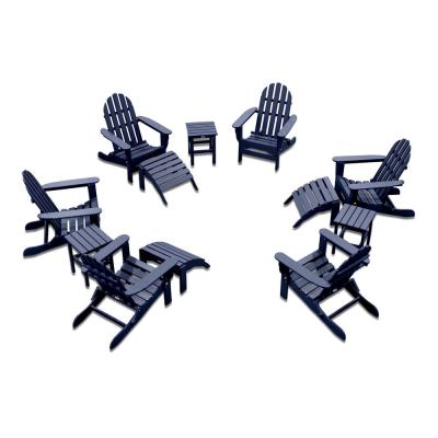 Icon Navy 12-Piece Plastic Adirondack Patio Conversation Seating Set