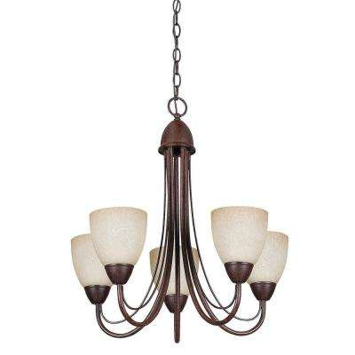 Fiscus 5-Light Oil-Rubbed Bronze Chandelier