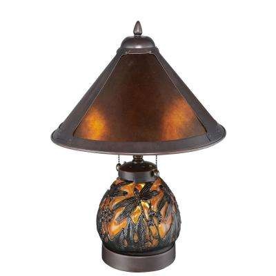 Americana Mica Dragonfly 16 in. Bronze Table Lamp