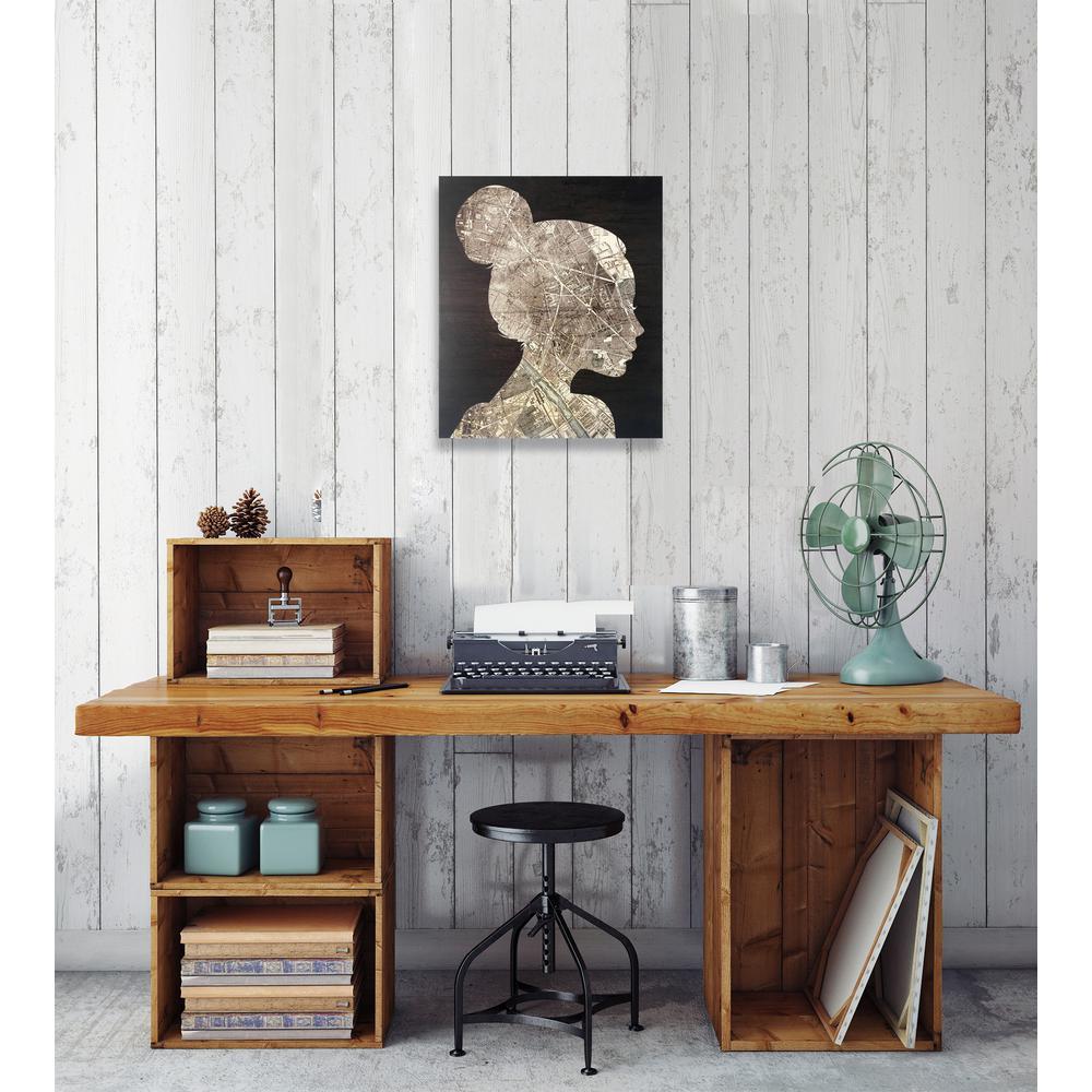 "17 in. x 20 in. ""The Wanderlust Traveler"" By Wynwood Studio Framed Printed Wood Wall Art"