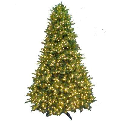 9 ft. Pre-Lit Natural Noble Fir Artificial Christmas Tree with Super-Tech Warm White Lights