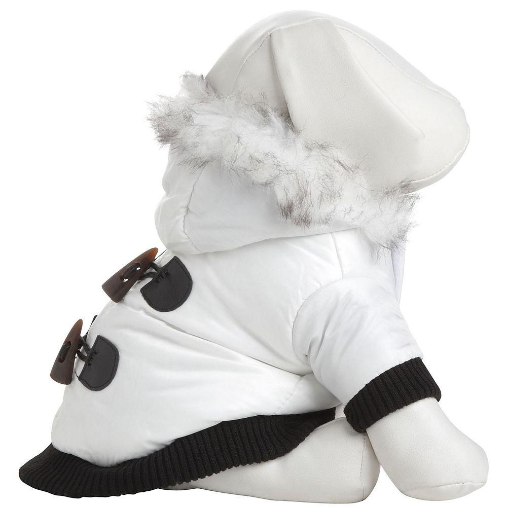 PET LIFE Medium White Winter White Fashion Parka