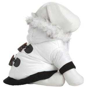 PET LIFE X-Small White Winter White Fashion Parka by PET LIFE