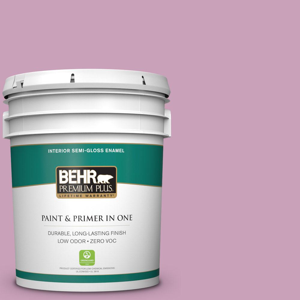 5-gal. #690D-4 Taste of Berry Zero VOC Semi-Gloss Enamel Interior Paint