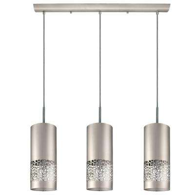 Carmelia 3 Light Satin Nickel Hanging