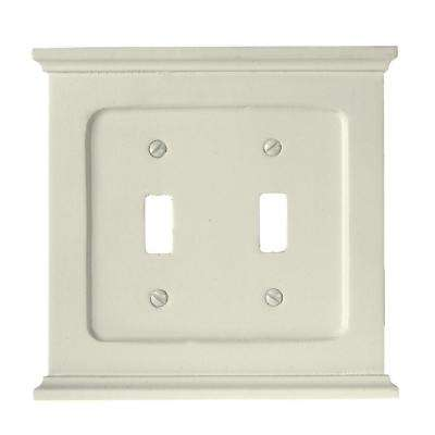 Mantel 2 Toggle Wall Plate - White