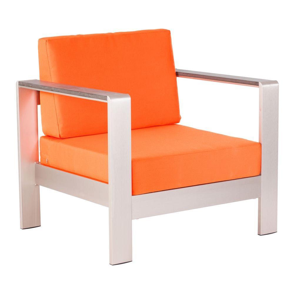 ZUO Cosmopolitan Orange Outdoor Armchair Cushion