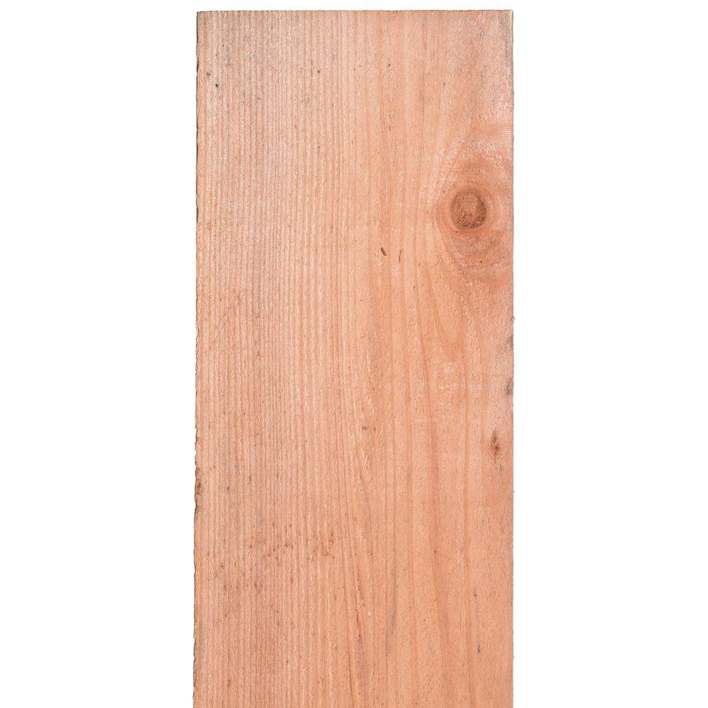 Mendocino Forest Products 11/16 in. x 7-1/2 in. x 6 ft. FSC Con Heart Redwood Flat Top Fence Picket