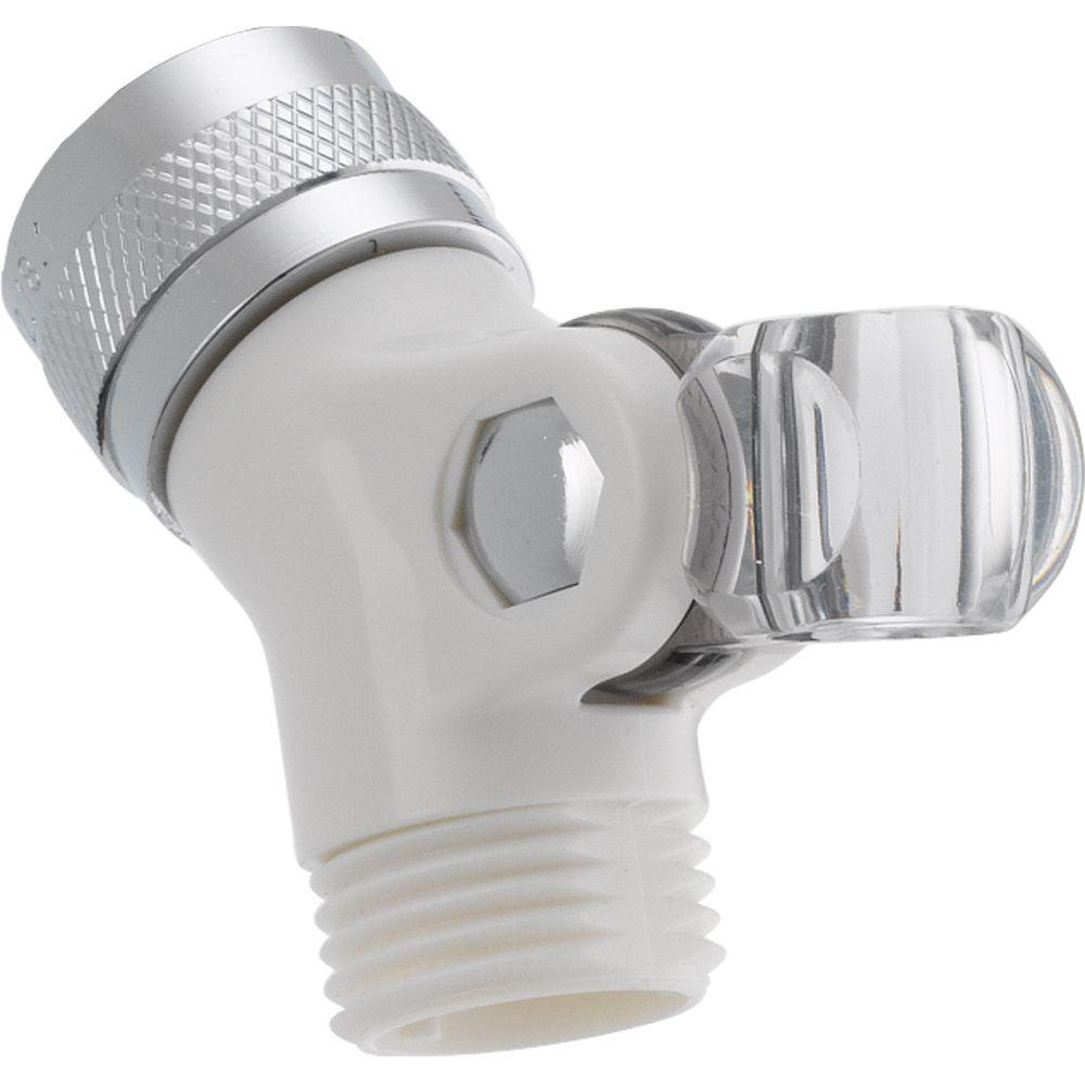 Delta Pin Mount Swivel Connector For Hand Shower In White-U4002-WH-PK