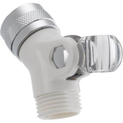 Pin Mount Swivel Connector for Hand Shower in White