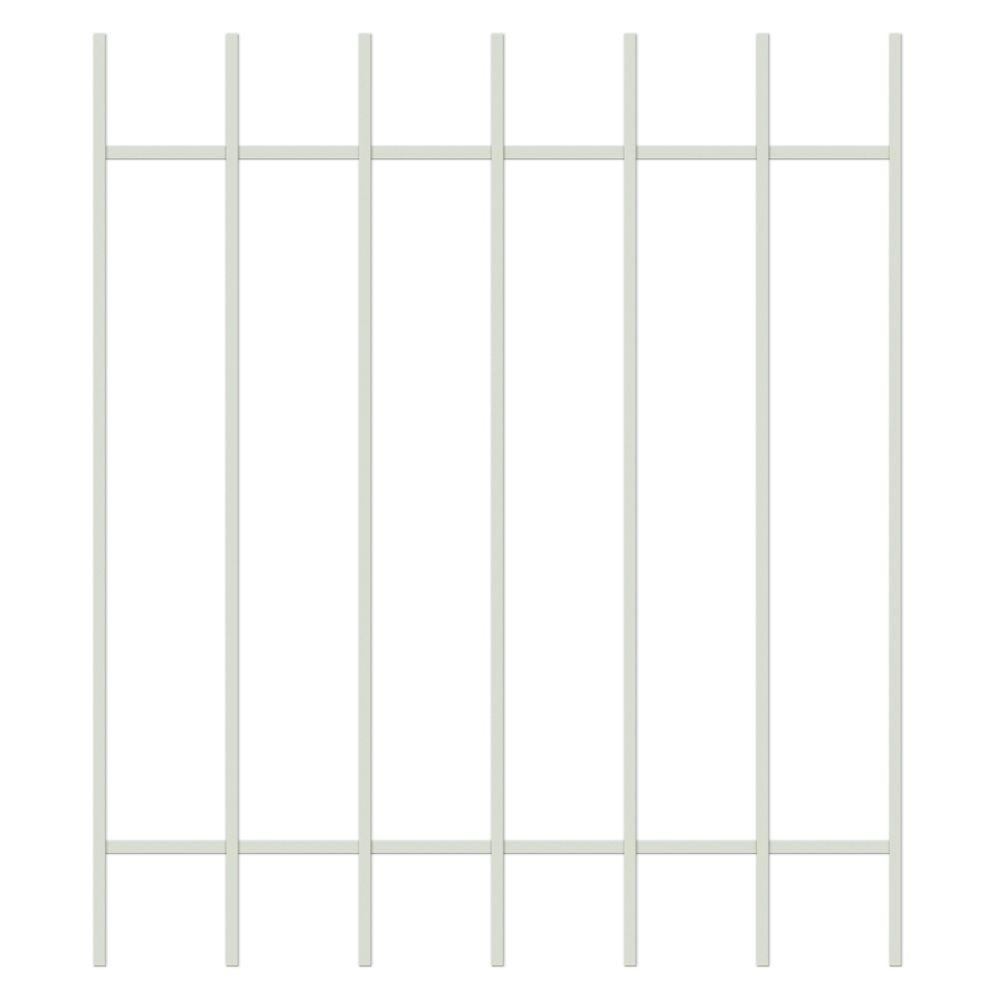Unique Home Designs Guardian 36 in. x 42 in. Almond 7-Bar Window Guard-DISCONTINUED