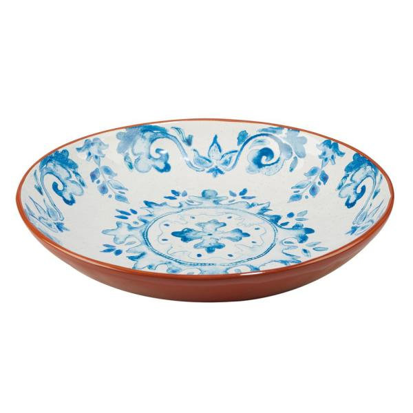 Certified International Porto Multi-Colored 13 in. x 3 in. Serving/Pasta Bowl