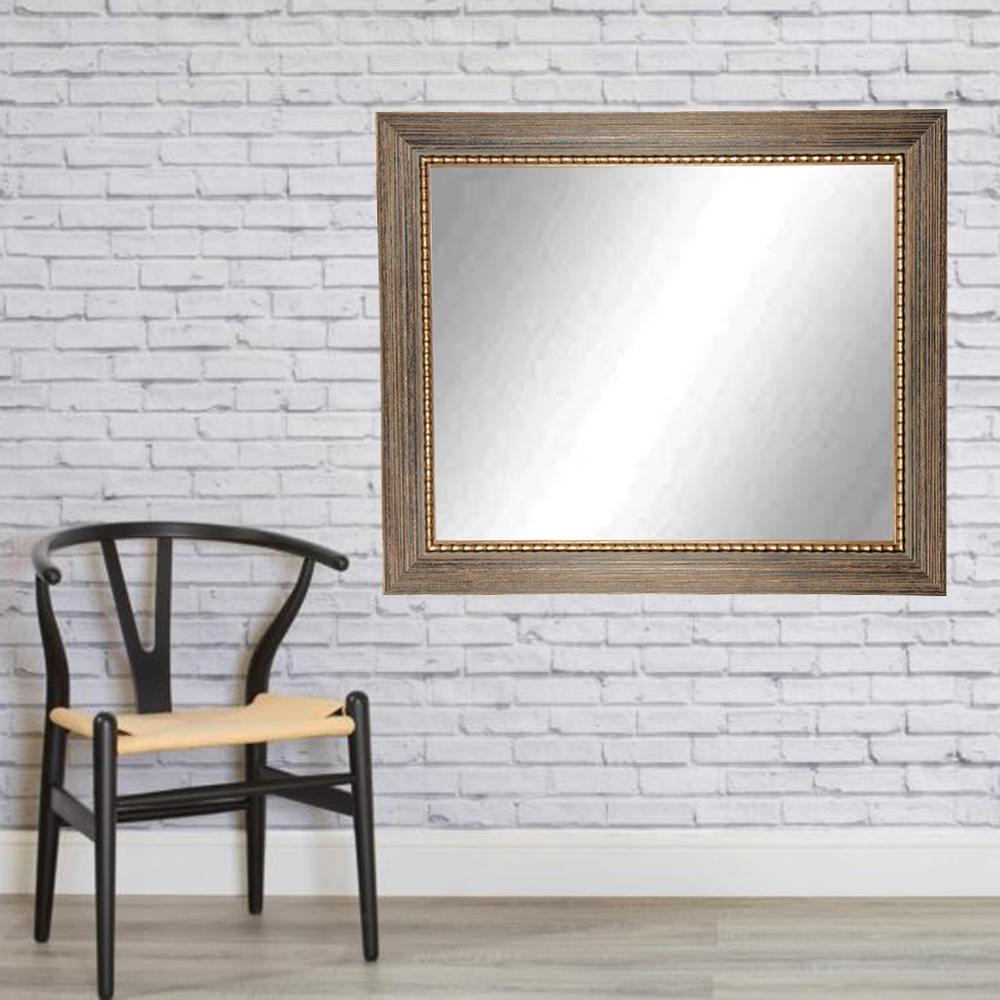 32 in. x 55 in. Bronze Wood Trail Framed Mirror