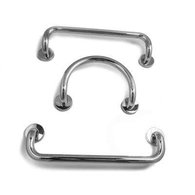 12 in. Circle Grab Bar in Polished Stainless Steel and 20 in. Dual Bent Grab Bars in Polished Stainless Steel (3-Pack)