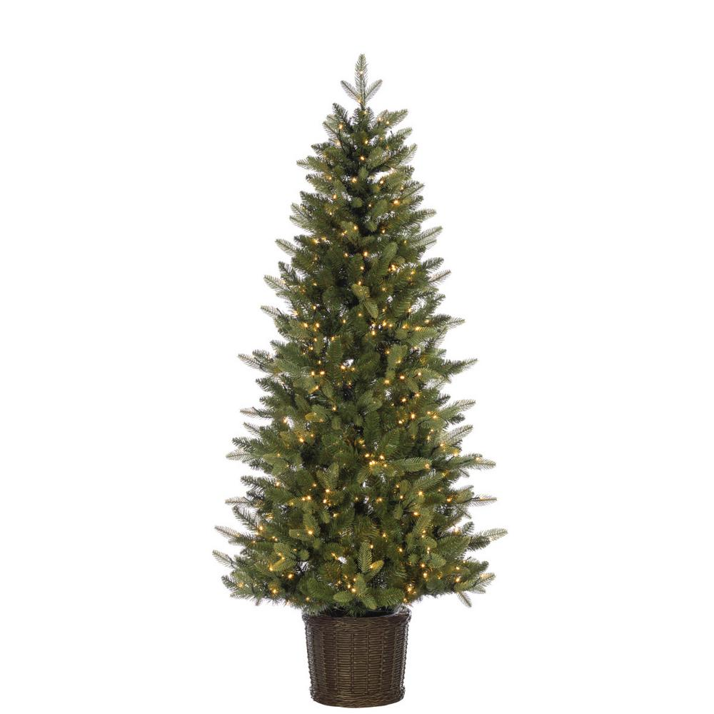potted natural cut ontario pine artificial christmas tree with 500 warm white
