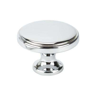 Italian Designs Collection 1.37 in. Bright Chrome Cabinet Knob
