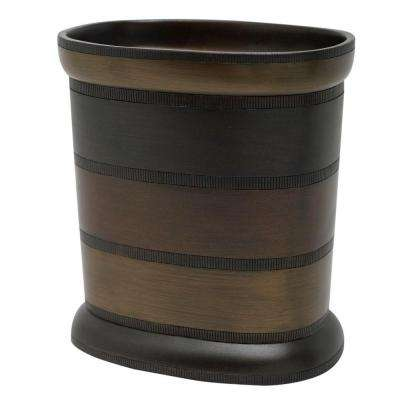 DeSoto Wastebasket in Tri-Color Bronze