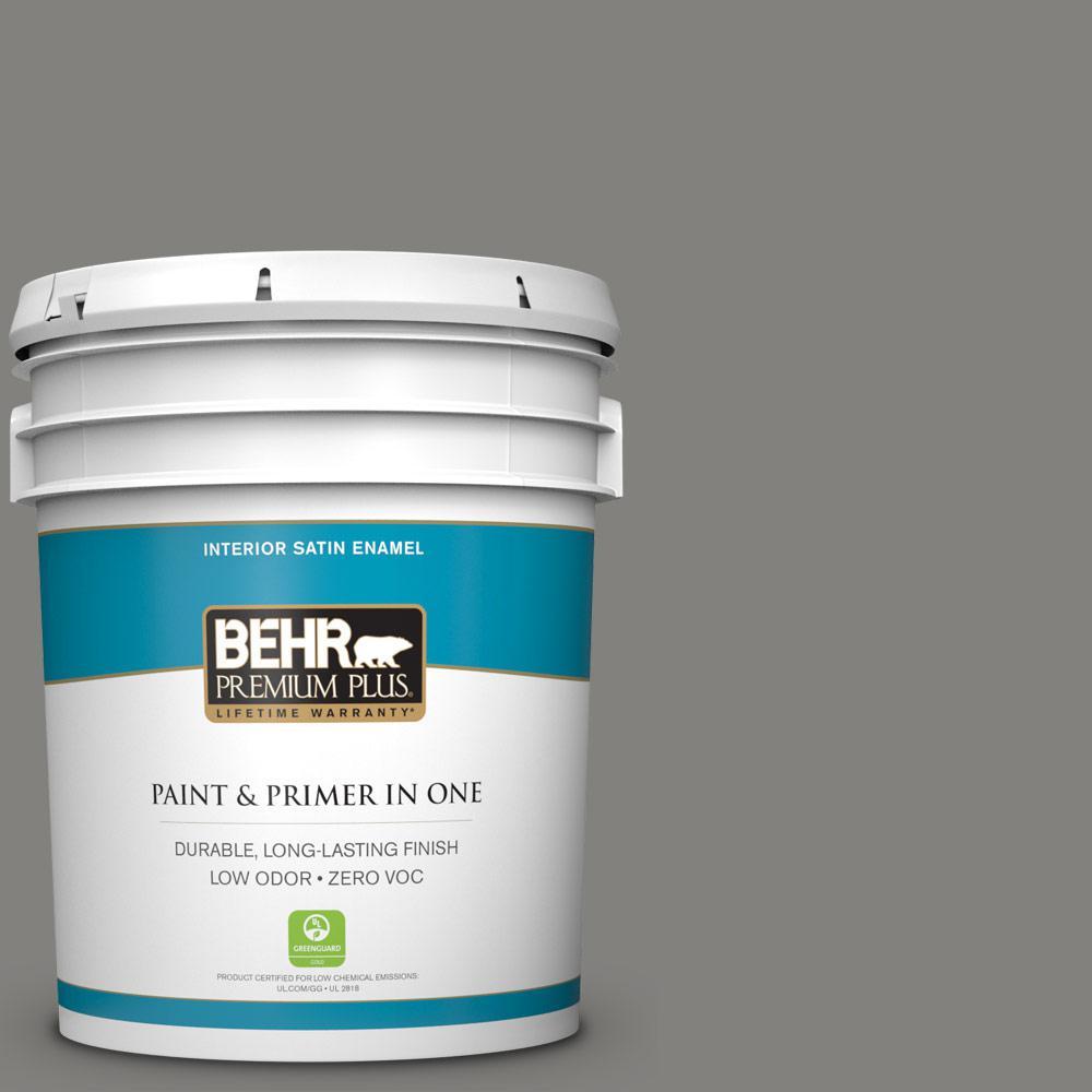 5-gal. #BNC-25 Gray Pepper Satin Enamel Interior Paint