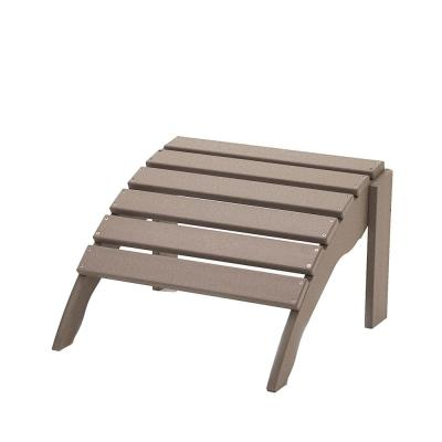 Icon Weathered Wood Plastic Outdoor Ottoman