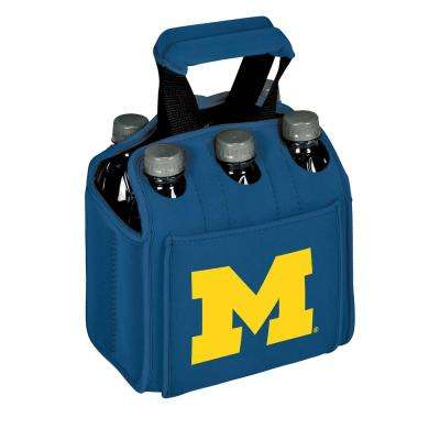 University of Michigan Wolverines 6-Bottles Blue Beverage Carrier