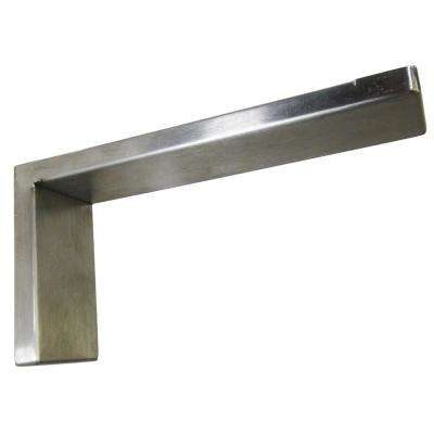 Providence Novelle 12 in. x 6 in. Stainless Steel Low Profile Countertop Bracket