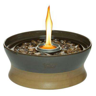 10 in. Clean Burn Ceramic Tabletop Firepiece Torch in Chocolate Brown