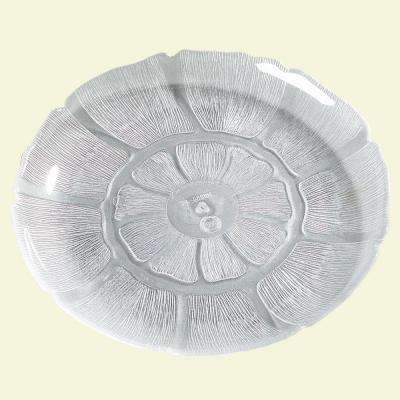 8.87 in. Diameter Petal Mist Plate in Clear (Case of 36)