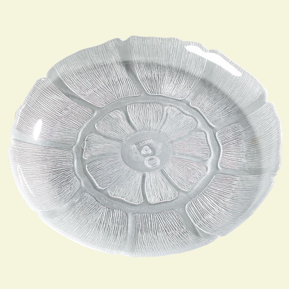 8.87 in. Diameter Petal Mist Plate in Clear (Case of 36)