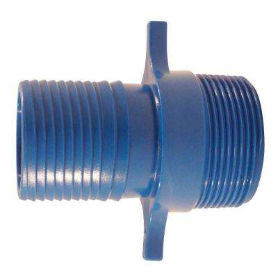 1-1/2 in. Blue Twister Polypropylene Insert x MPT
