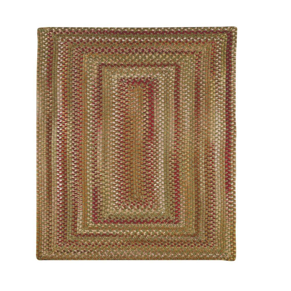 Capel Applause Concentric Evergreen 5 ft. 6 in. Square Area Rug
