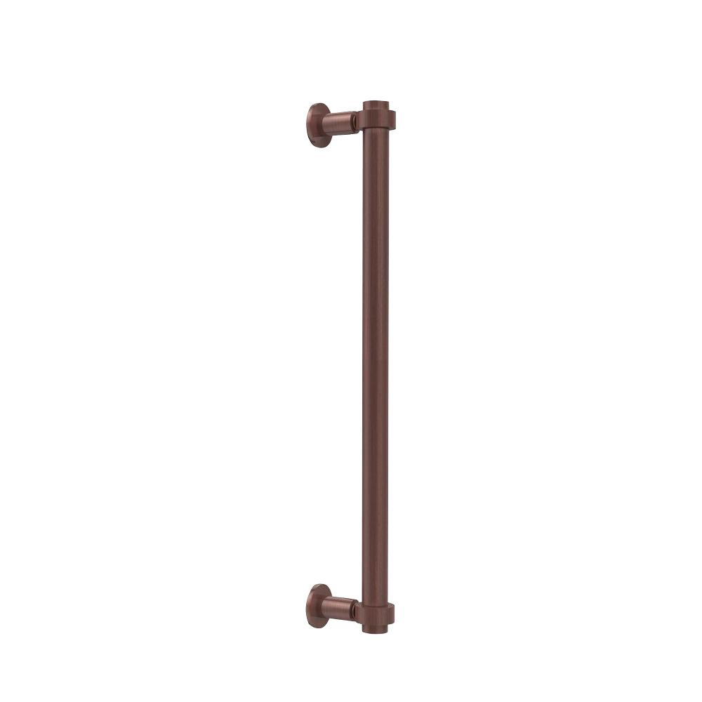 Contemporary 18 in. Back to Back Shower Door Pull in Antique