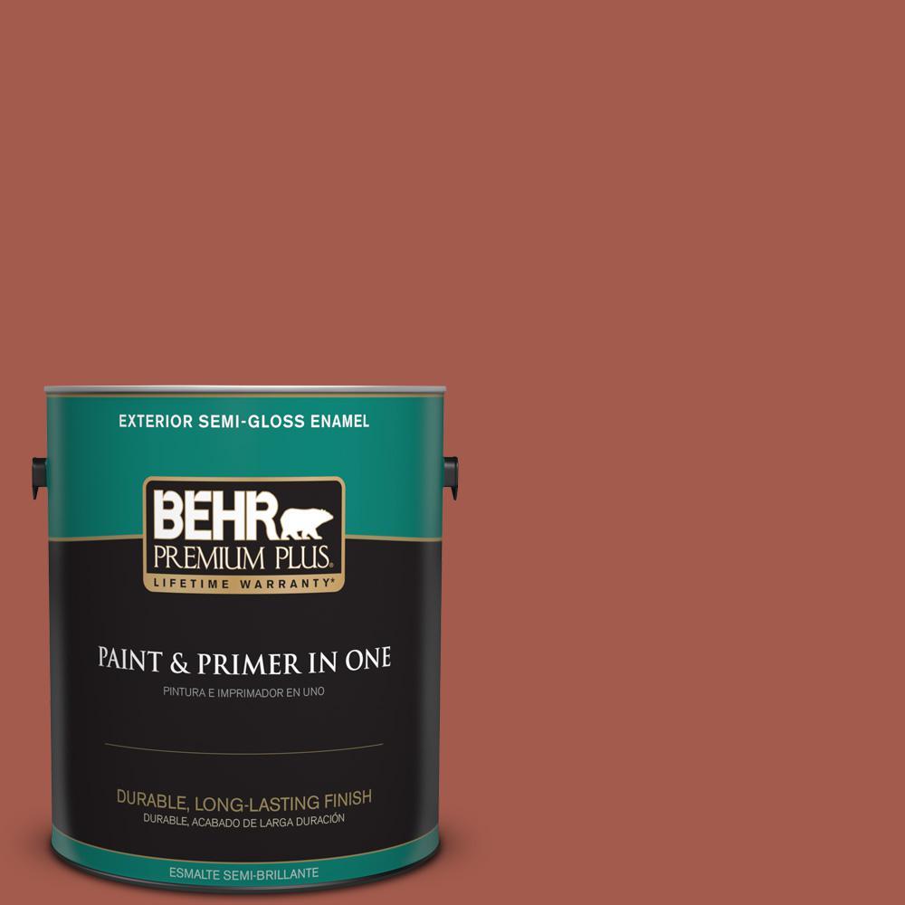 1 gal. #PPU2-15 Cajun Red Semi-Gloss Enamel Exterior Paint