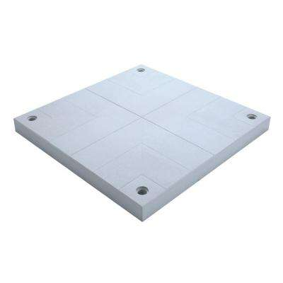 40 in. x 40 in. Flint Grey Patio Deck Surface Pad