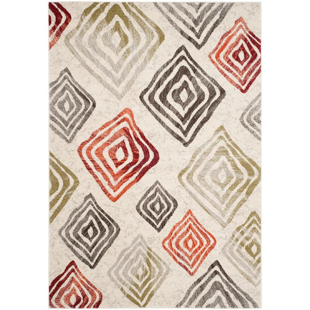 Safavieh Porcello Ivory/Green 6 ft. 7 in. x 9 ft. 6 in. Area Rug