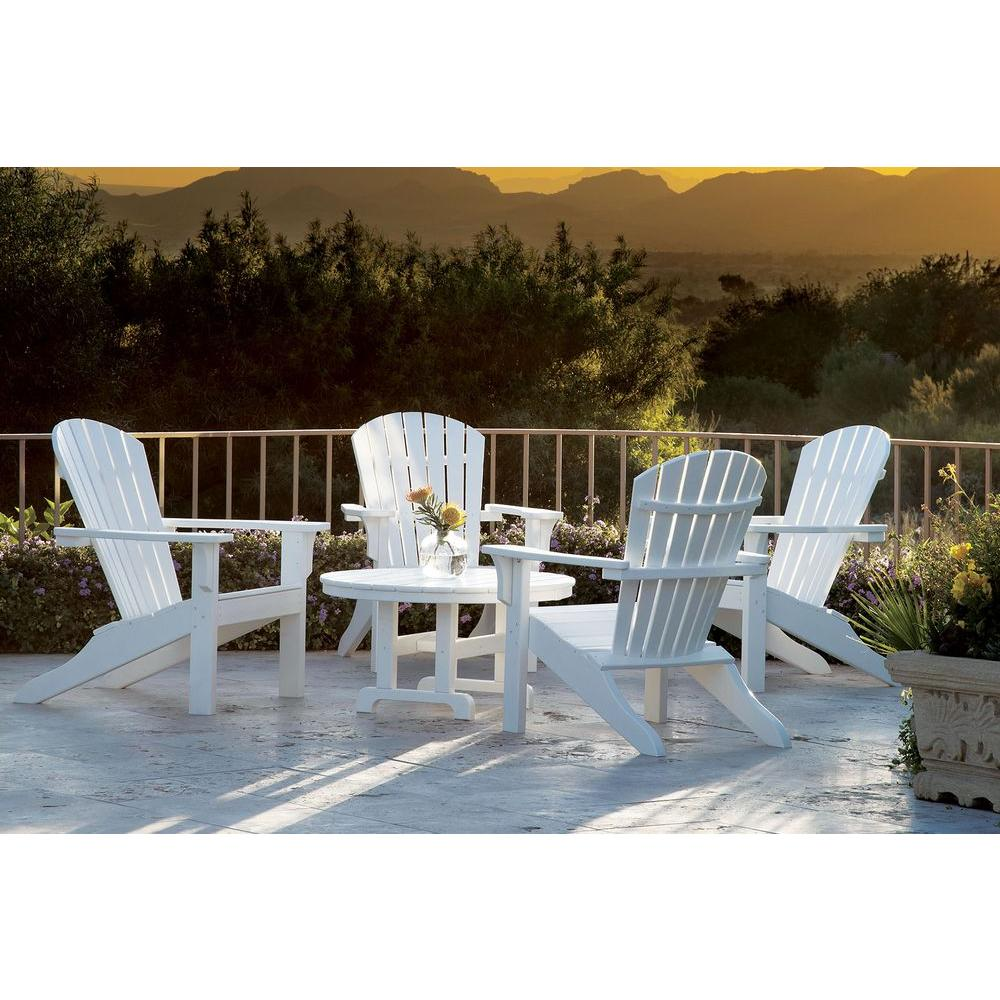 Ivy Terrace Classics White 5-Piece Shell Back Adirondack Patio Conversation Set