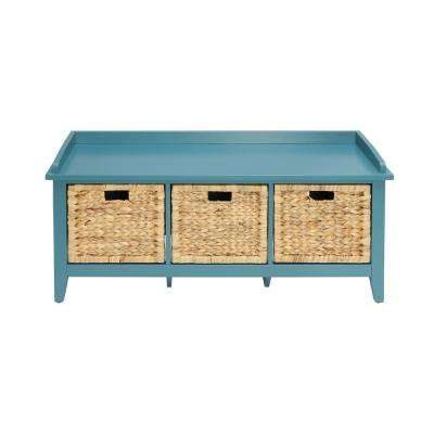Flavius Teal Storage Bench