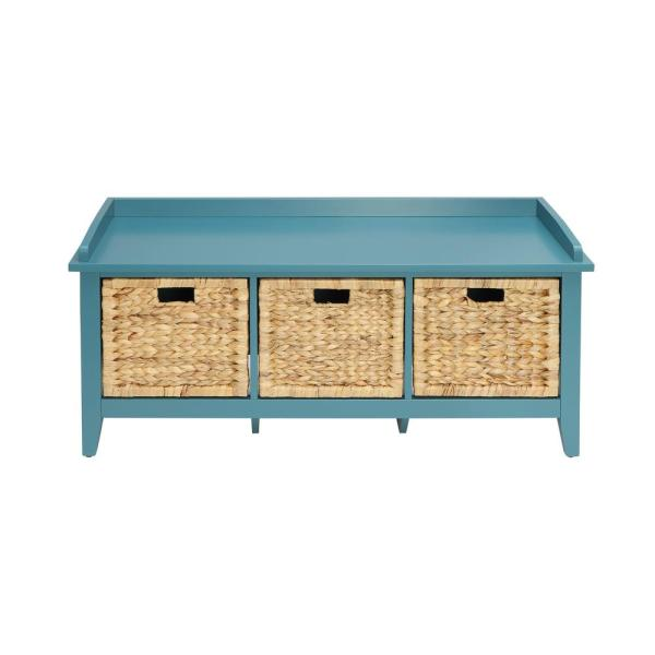 Acme Furniture Flavius Teal Storage Bench 96761 The Home