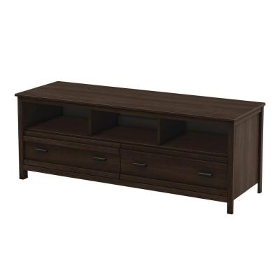 Exhibit 60 in. Mocha Brown Particle Board TV Console Fits TVs Up to 70 in.